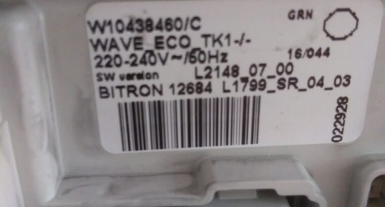 Carte electronique lave linge Whirlpool awe6230