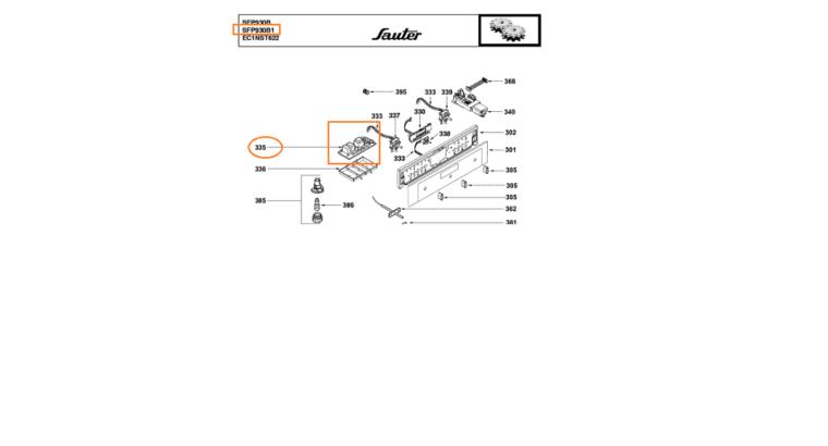 Vend pièces détachées occasion Four Sauter SFP 930B1